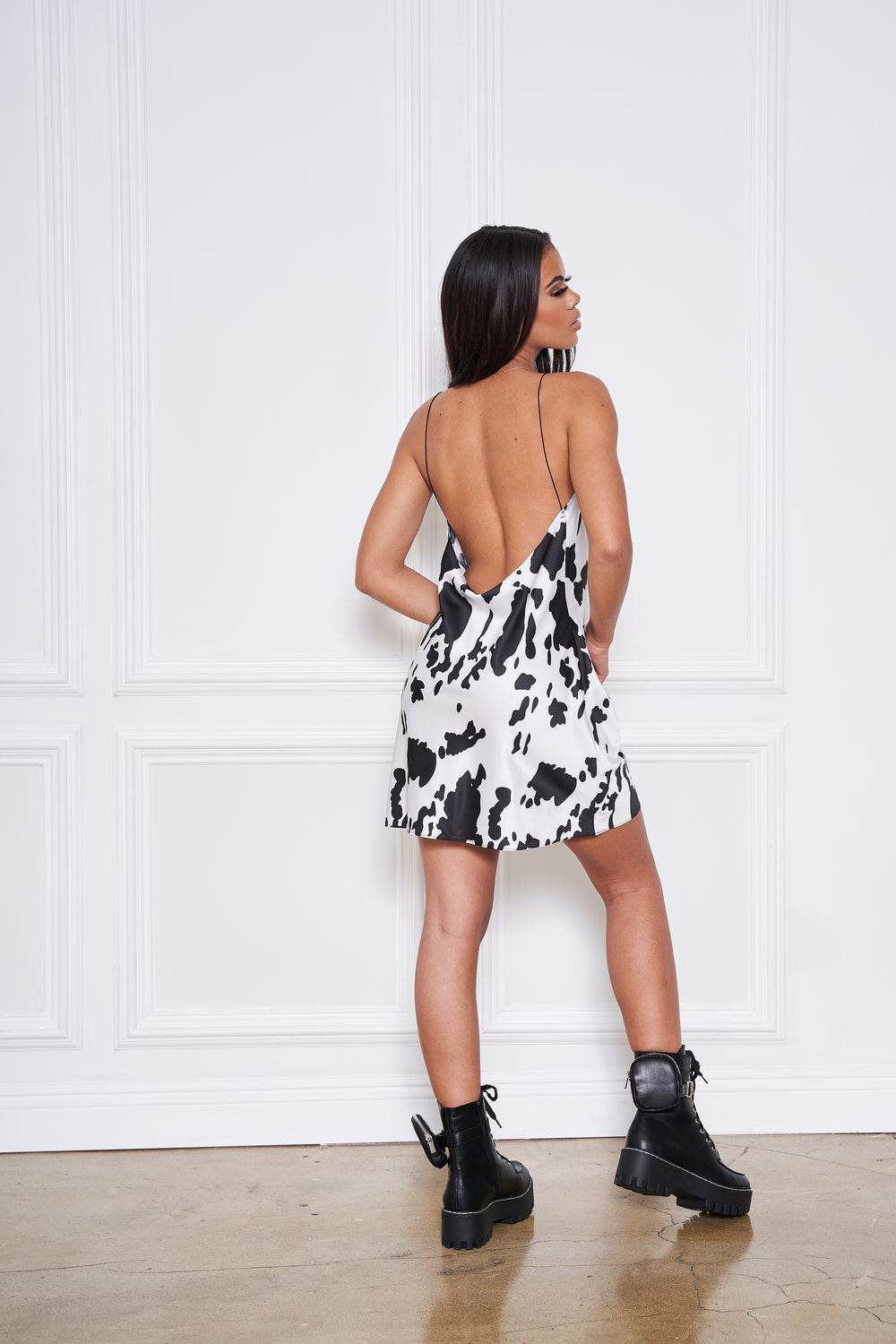 Moo Baby | Cow Print Mini Dress