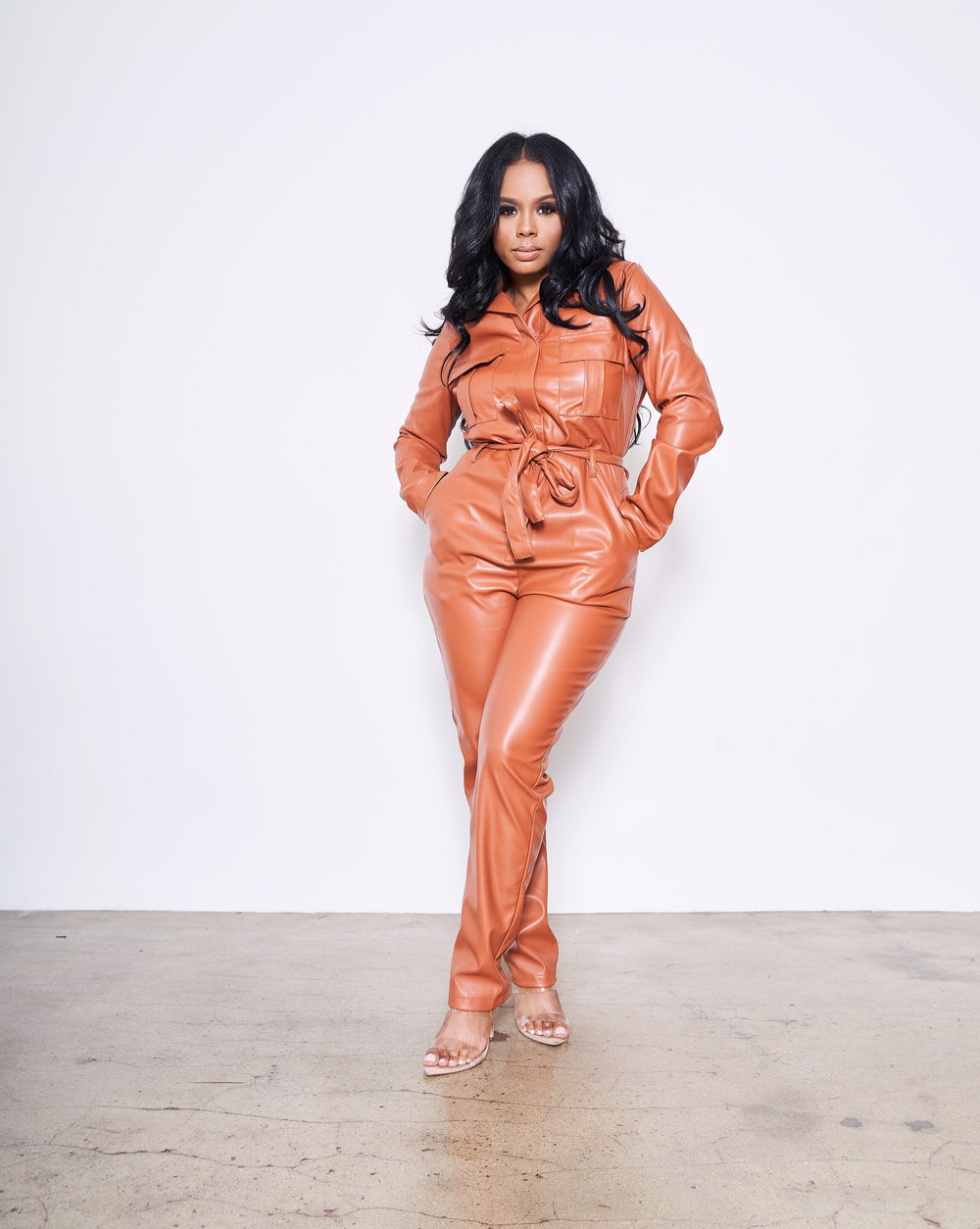 Tuscan Leather | Jumpsuit (Rust)