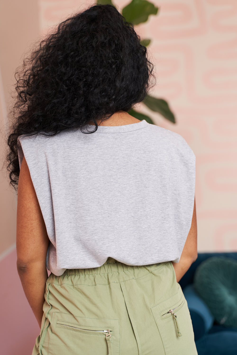 Padded Tee| Shoulder Pad Top