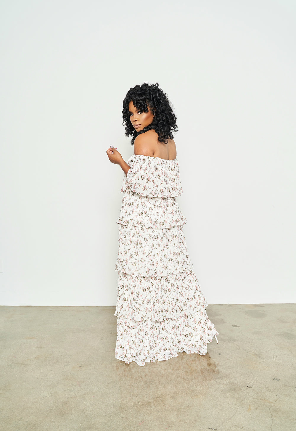 Sashay Chic  | Pleated Maxi Dress