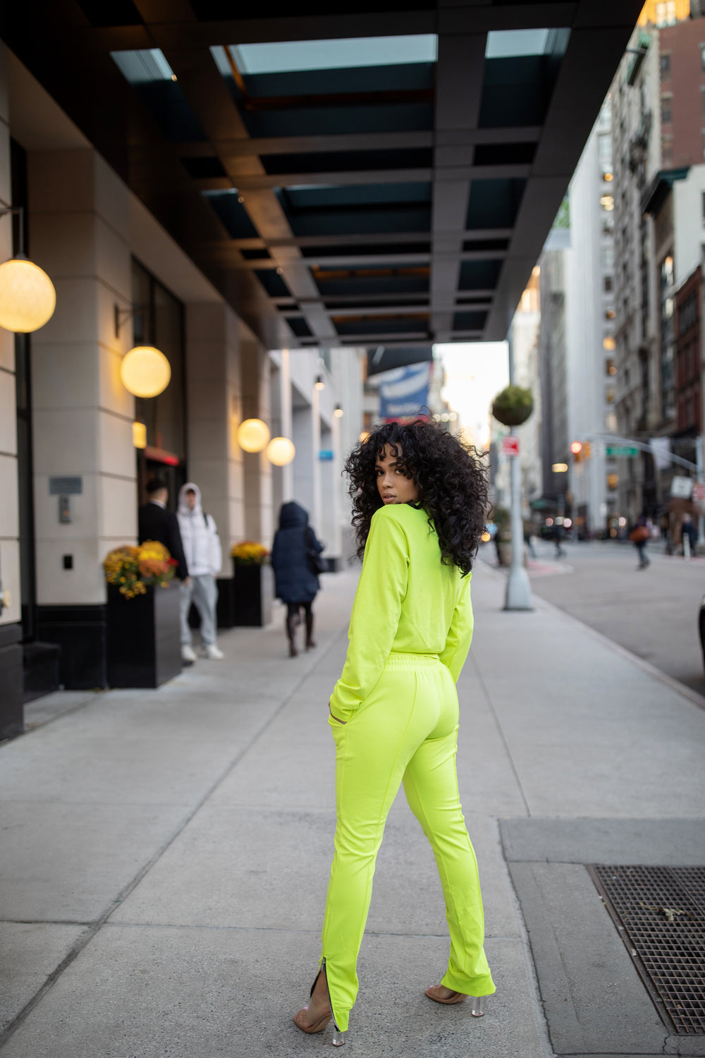On The Run - Jogger Set | Neon Green