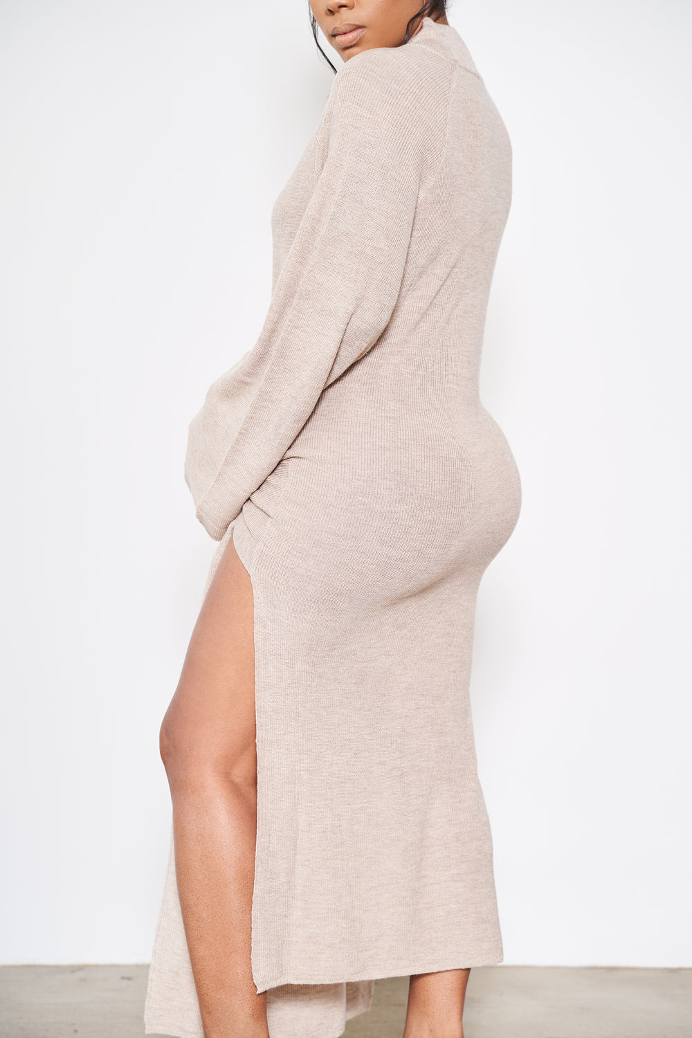 A Different Cloth | Sweater Dress  (Nude)