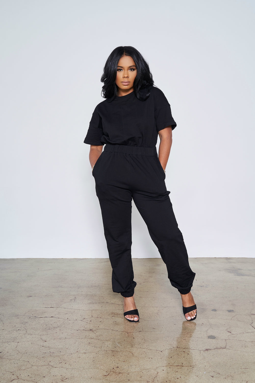 Comfortable Slay  | Jumpsuit (Black)