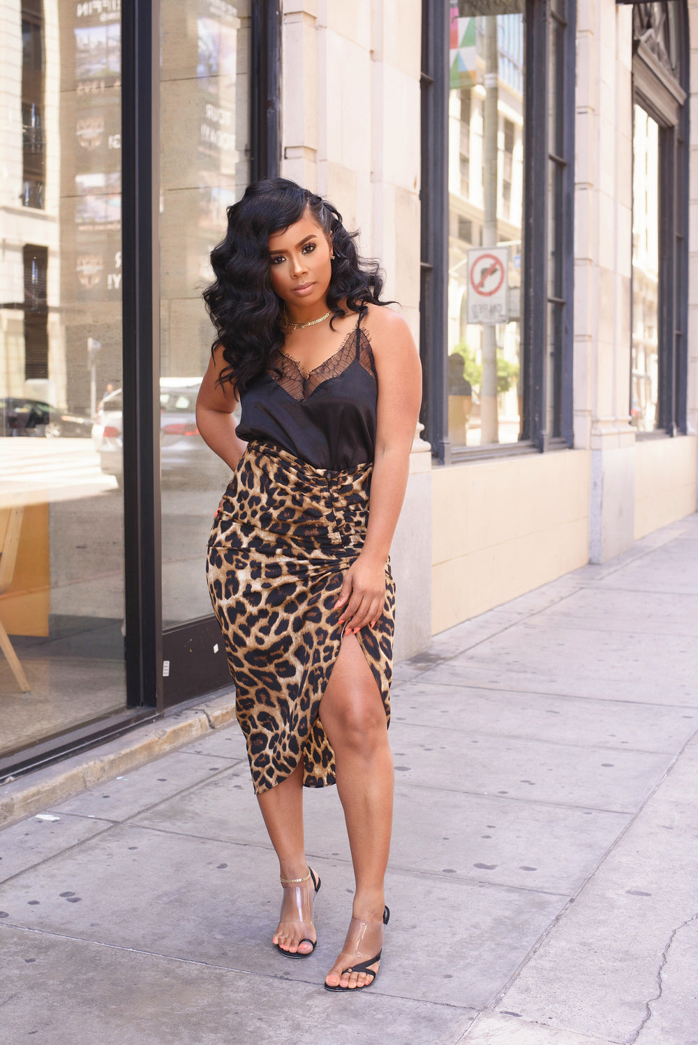 Fierce and Fabulous | Leopard Split Skirt