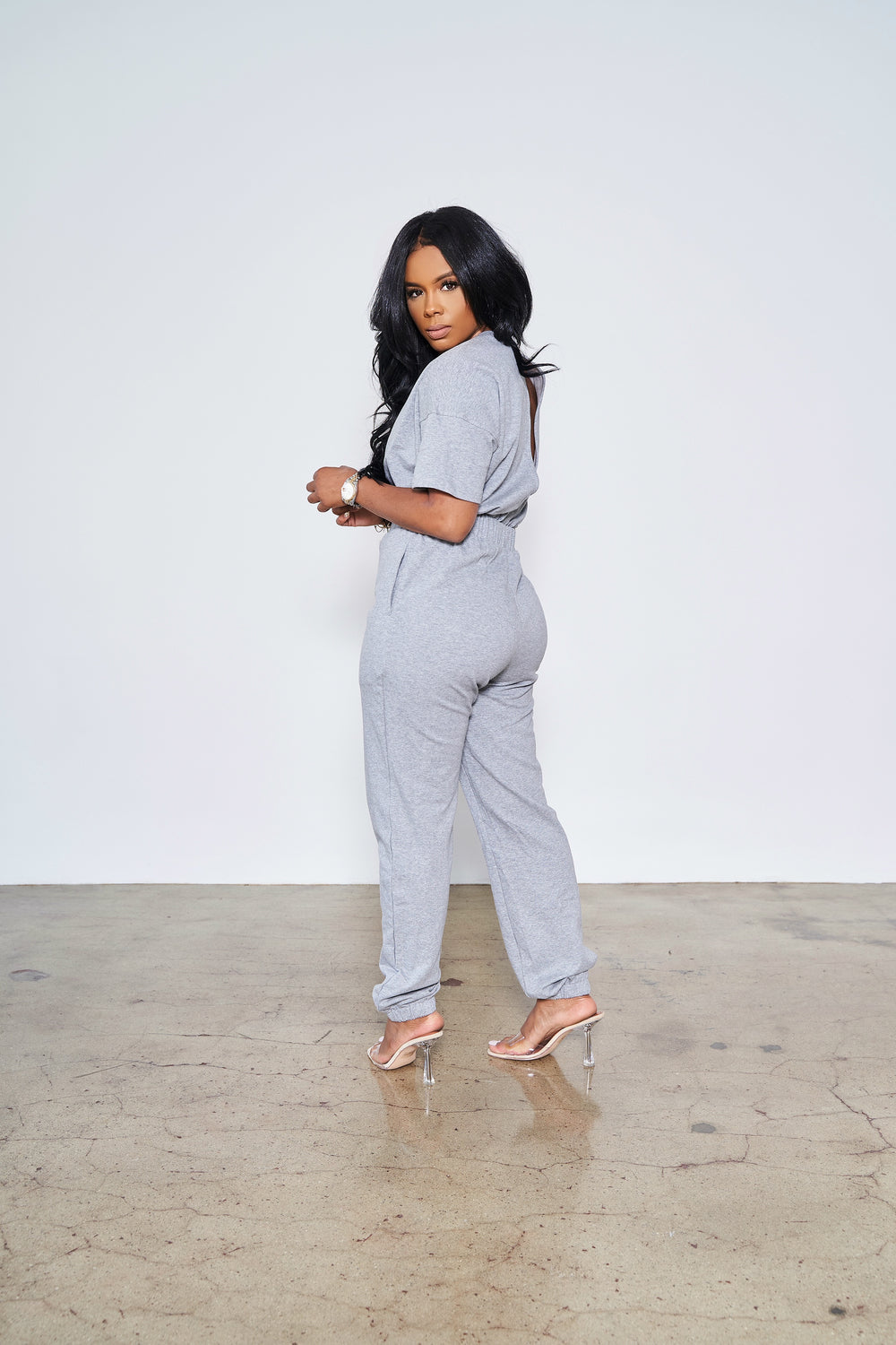 Comfortable Slay  | Jumpsuit (Grey)
