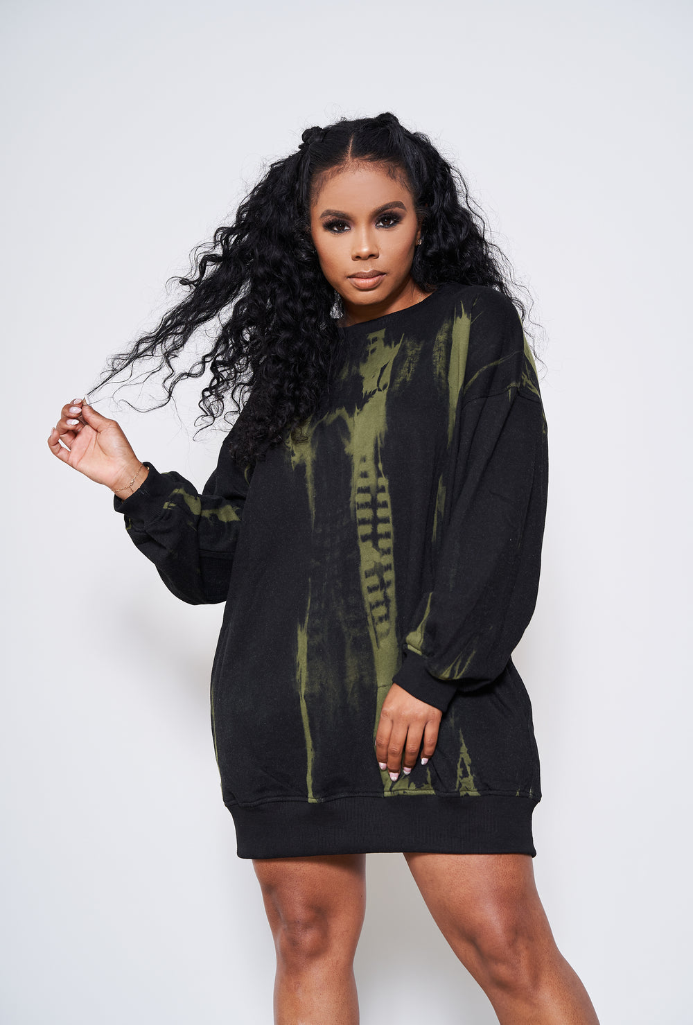 Sweater Weather |Oversized Sweater Dress (Black)