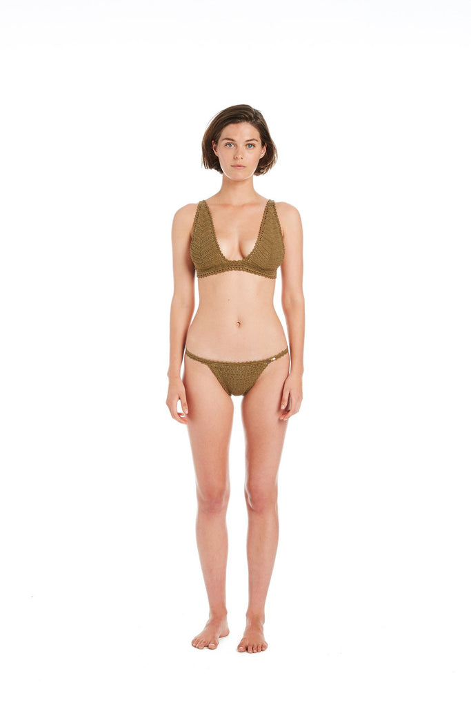 Lalita Cotton Crochet Long Line Bikini Top