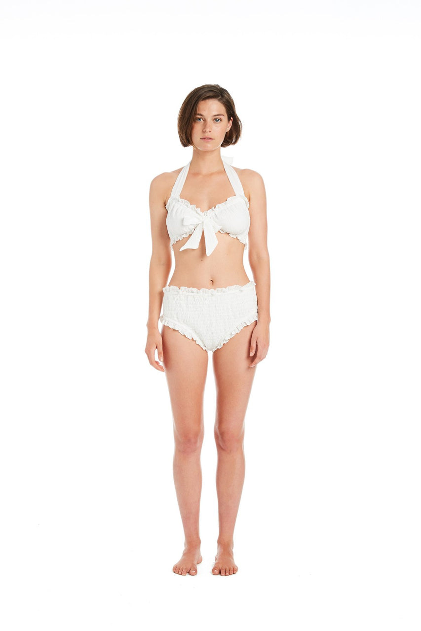 Kali Shirred High-waisted sunsuit Bottom
