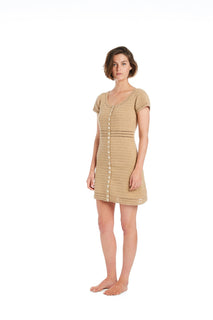 Sita Crochet Button Mini Dress