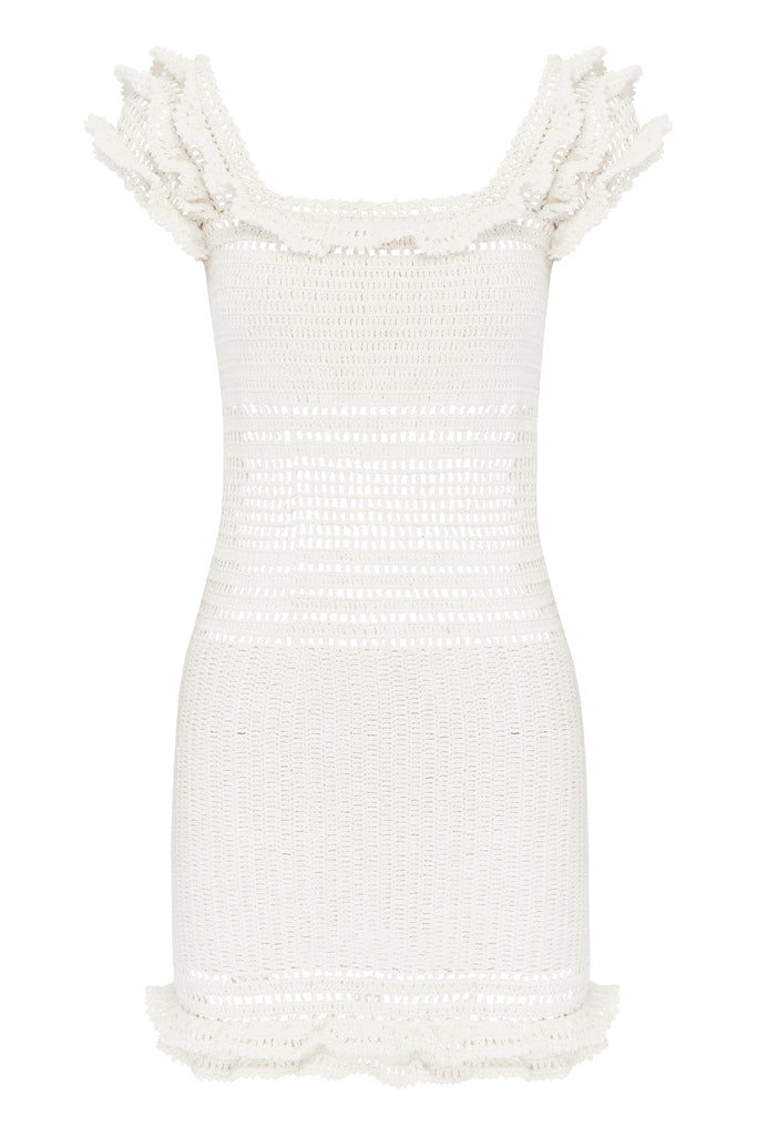 SAACHI FRILL MINI DRESS