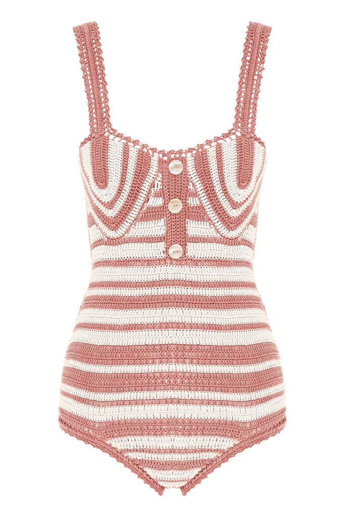 Daisy Cotton Crochet Balconette One Piece