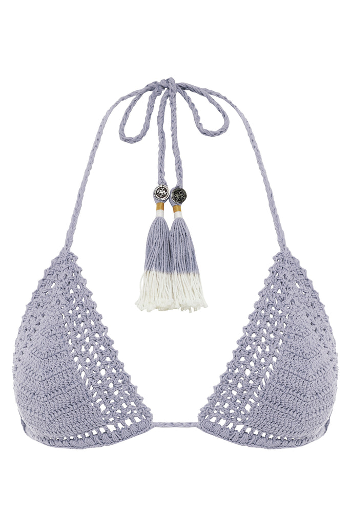 Essential Crochet Sliding Halter Bikini Top