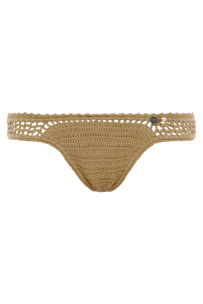Essential Crochet Cheeky Bikini Bottom Sand