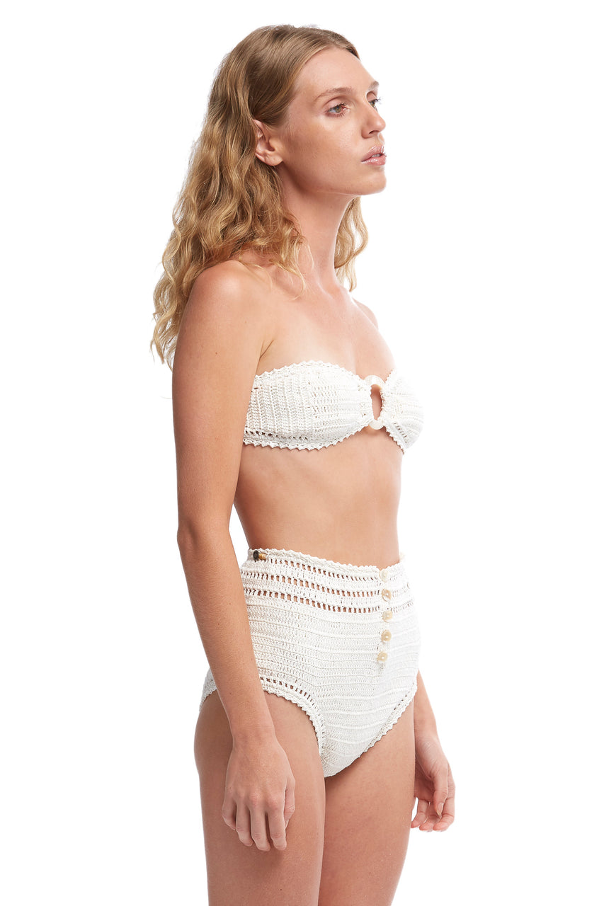 INIKA CROCHET HIGH-WAISTED BIKINI BOTTOM