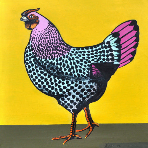 Hen on Yellow
