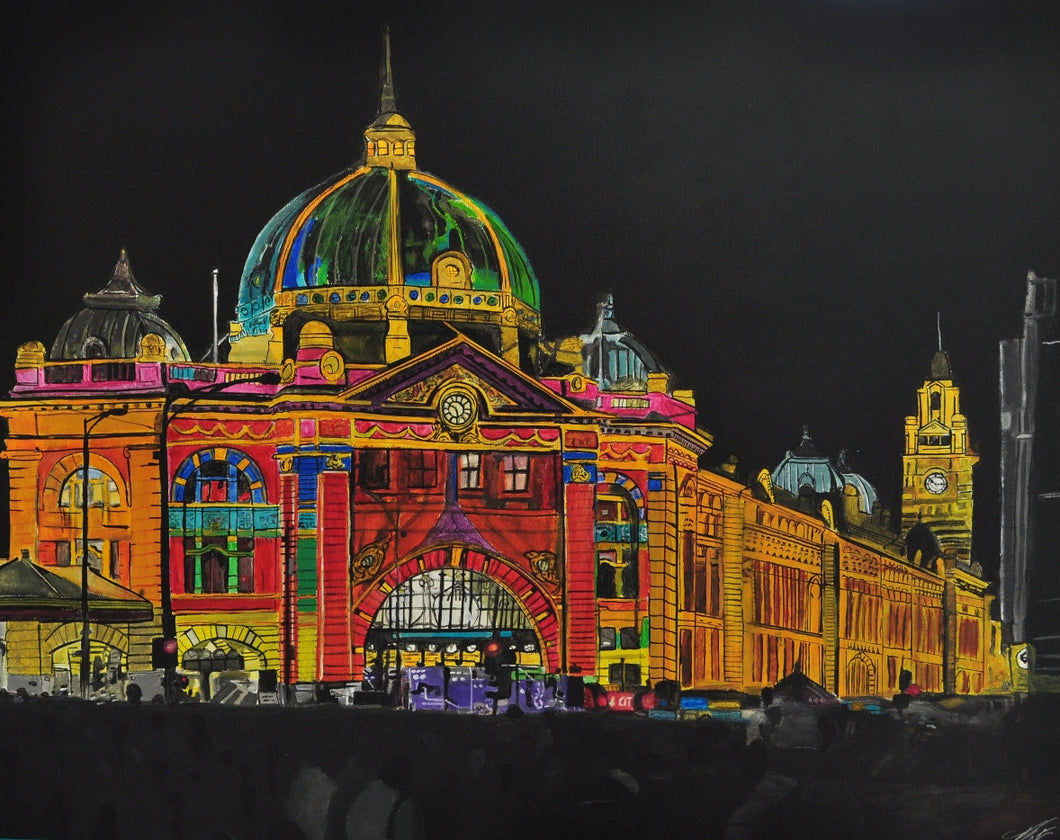 Flinders Street at White Night