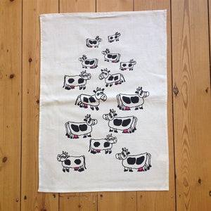 Cow Design Tea Towel
