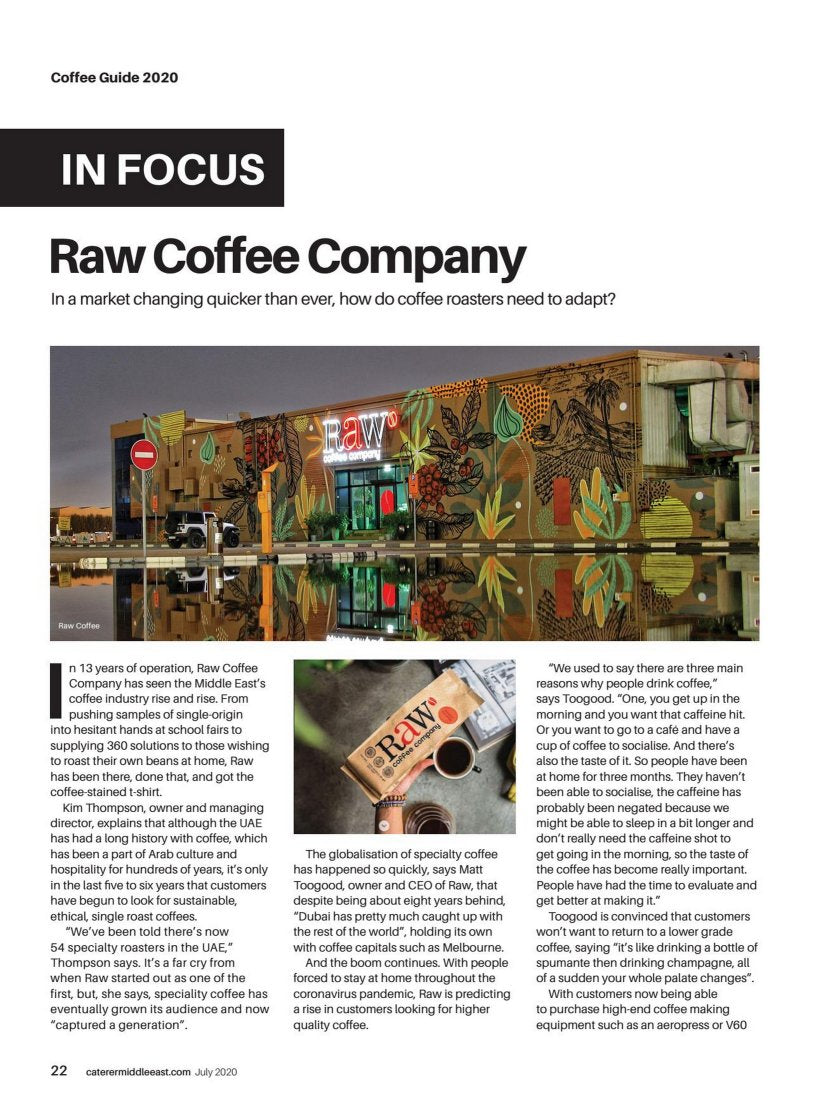 Caterer ME - In focus: Raw Coffee Company