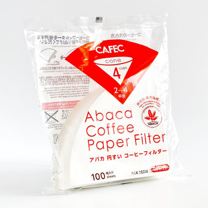 Cafec Abaca cone-shaped paper filter cup 4