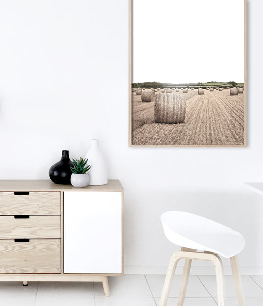 australian farm wall art country print hay bale wall art