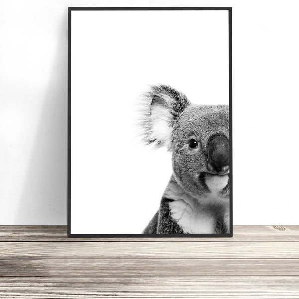 black and white koala print