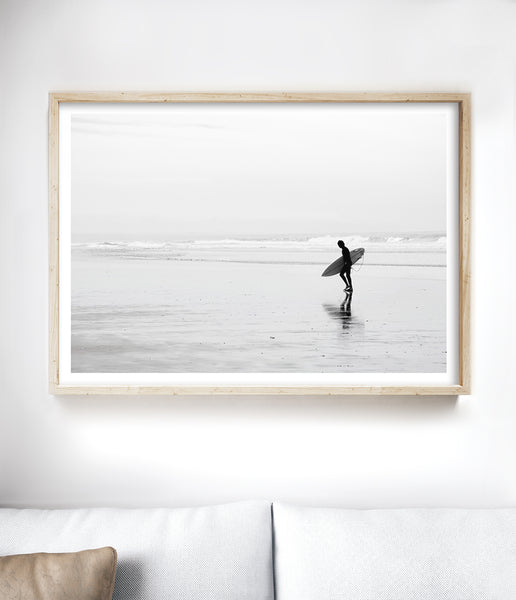 black and white surf print
