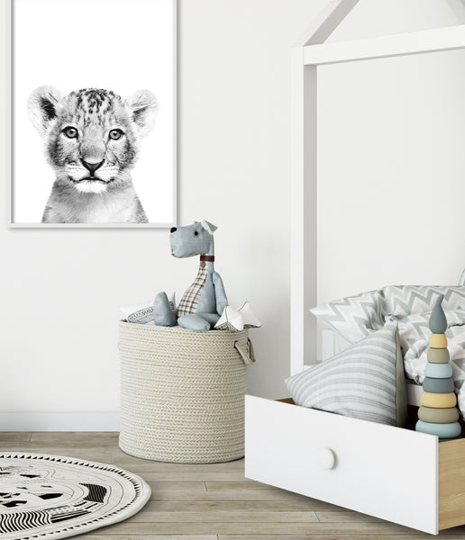 boys bedroom print lion cub art print toddler room print