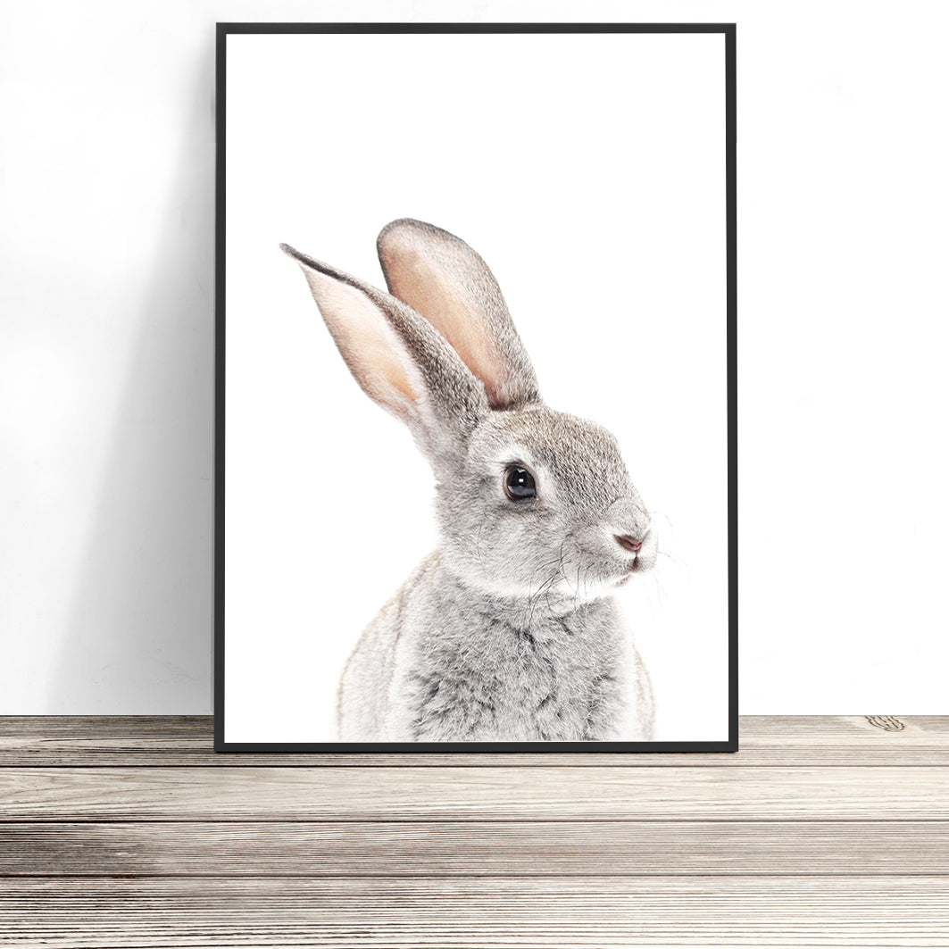 bunny print rabbit art