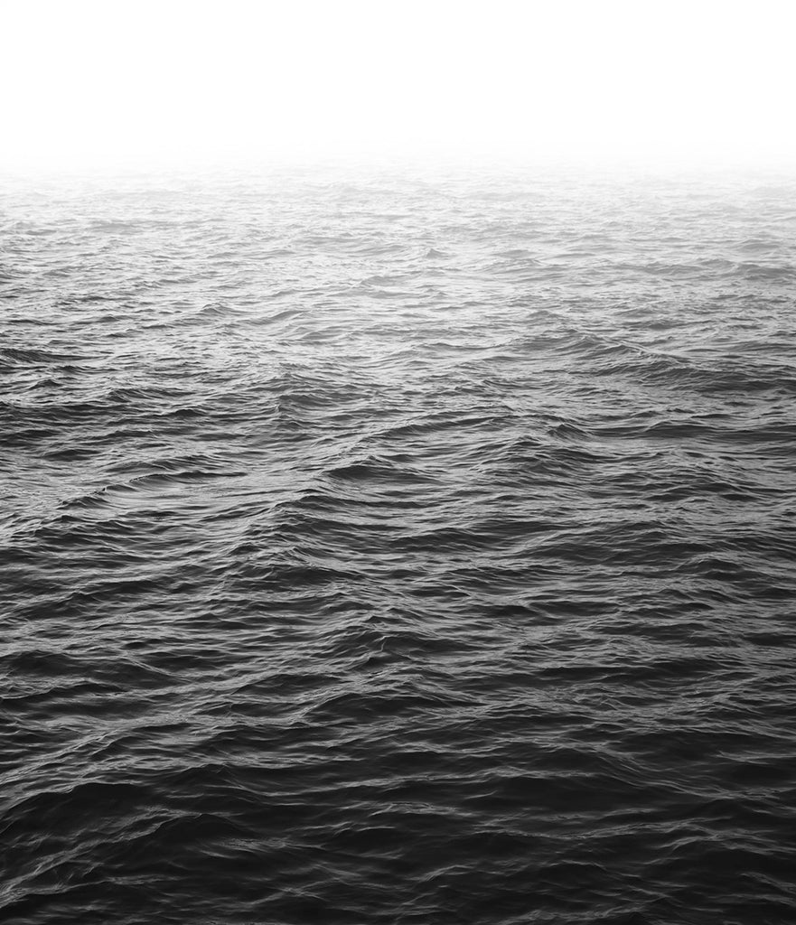 Black and white ocean photography