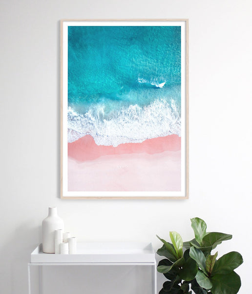 coastal print aerial beach wall art