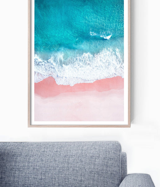 coastal wall art sea print aerial beach print