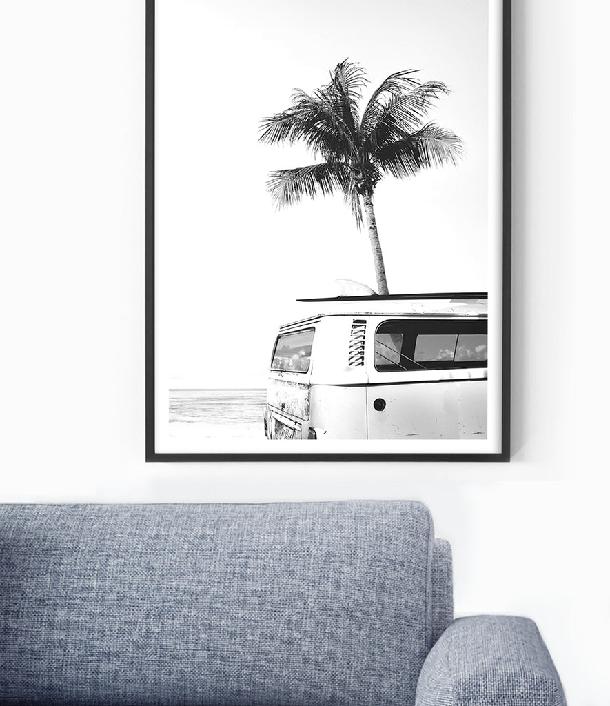 Combi bus print kombi van art vw campervan artwork