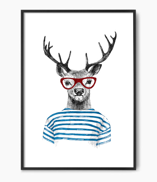 cool kids room art deer print