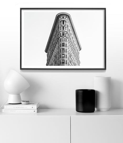 flatiron building art print black and white new york prints australia