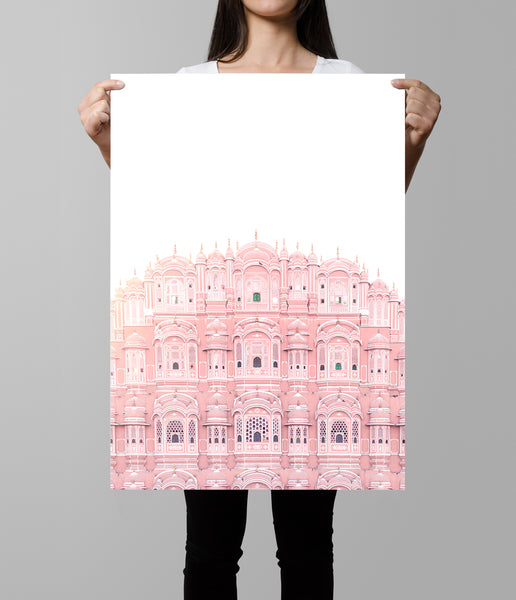 hawa mahal artwork indian palace print jaipur architecture photography
