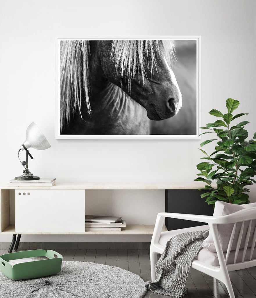 Icelandic Horse Print (Black and White) – Little Ink Empire