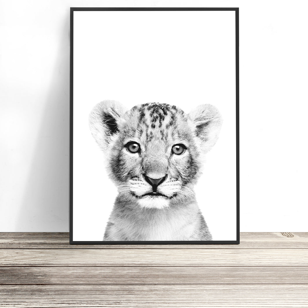 lion cub art print kids room prints for boys room