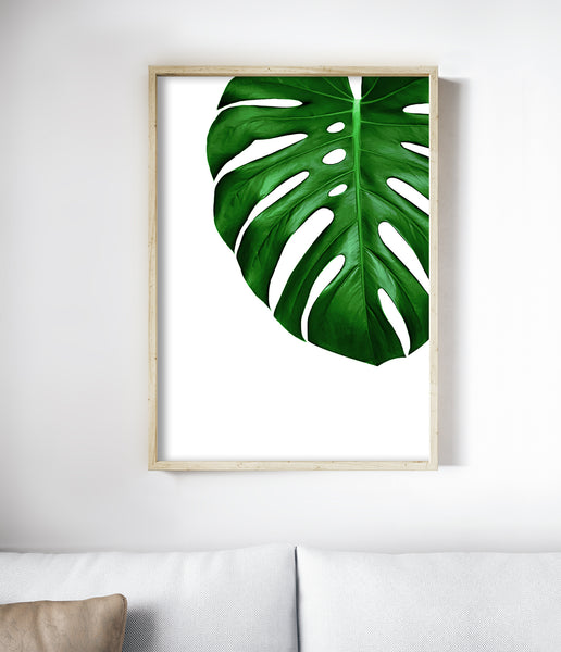 monstera art tropical print