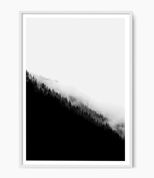 minimalist mountain range art print photography