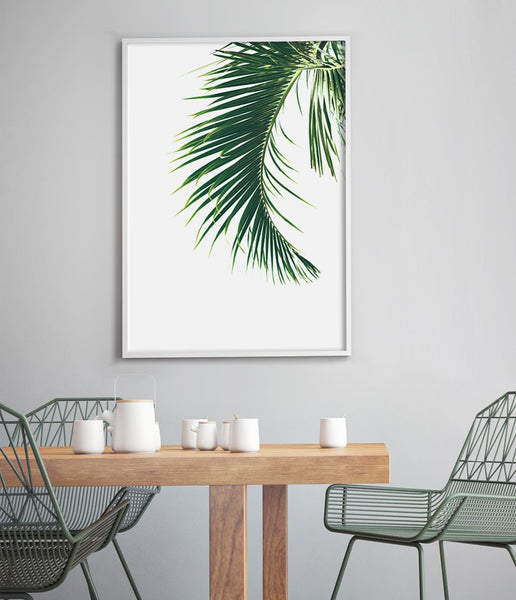 palm print palm leaf wall art