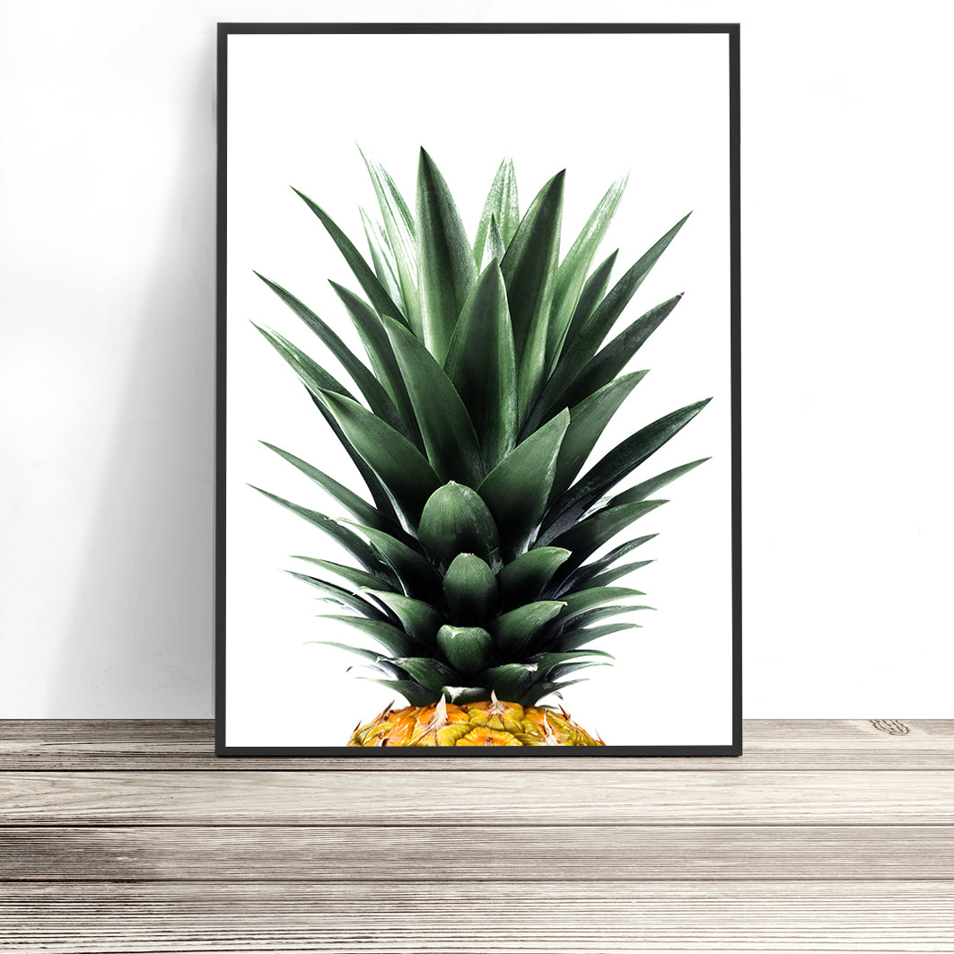 pineapple print tropical decor
