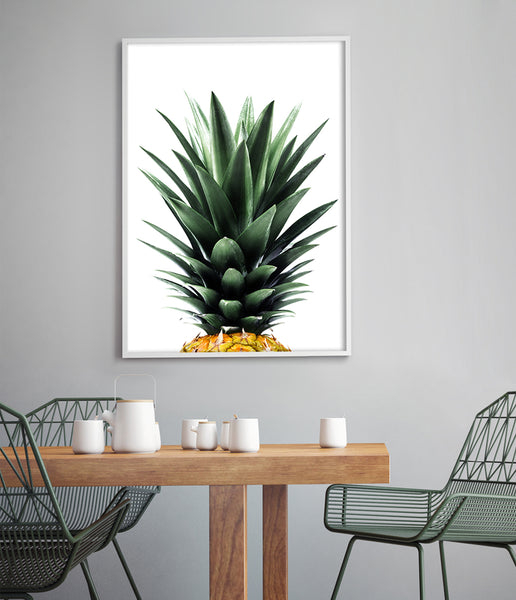 tropical art pineapple print