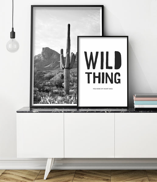 wild thing wall art print by little ink empire