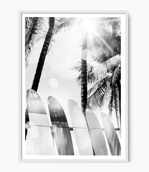 surf print beach wall art