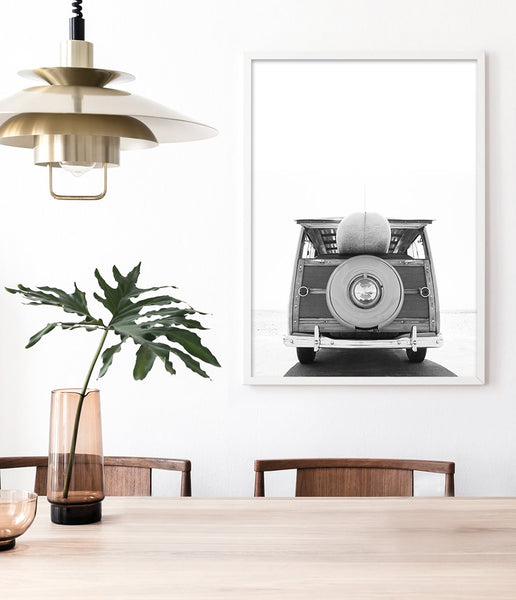 surf print surf van wall art