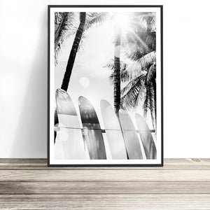 surf wall art surfboard print
