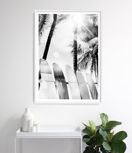 surfboard wall art surf print