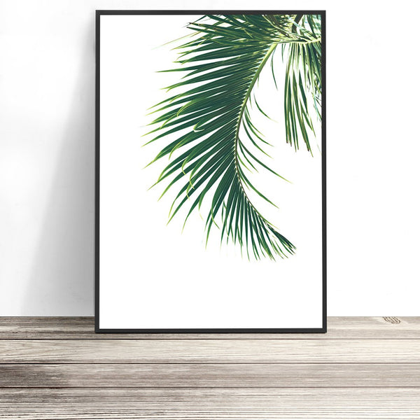 tropical palm leaf print tropical wall art