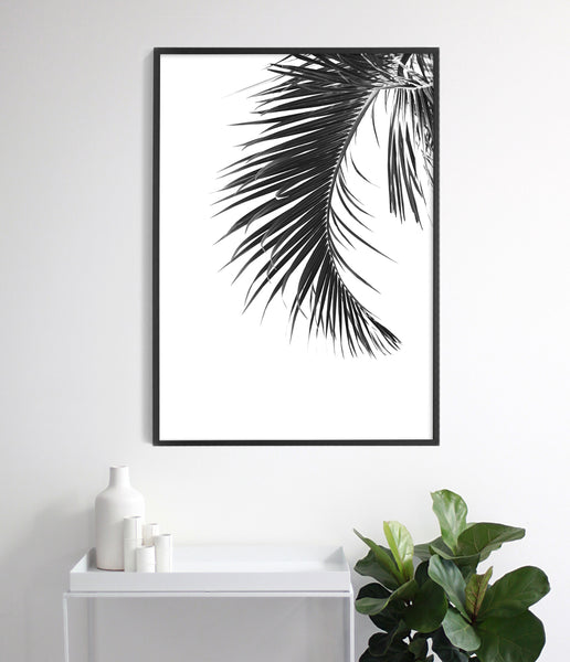 tropical palm print palm leaf art