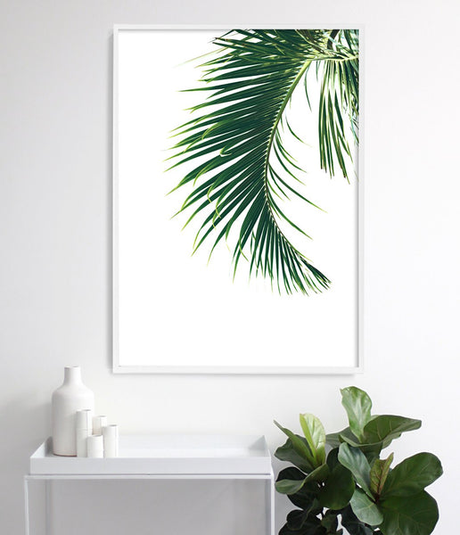 tropical print palm leaf art print